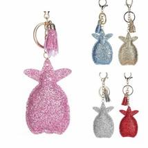 Pineapple Keychains Sequins Fruit Tassel Pendant Key Rings Holder Hangin... - $8.05