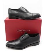 NIB Salvatore Ferragamo Guru Black Cap-Toe Leather Oxfords Dress Shoes 1... - $345.00