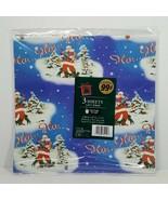 Vintage Cleo Wrapping Paper Christmas Ho Ho Ho Santa 3 Sheets 12.5 Sq Ft... - $9.99
