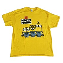 Minion Mania T Shirt Yellow McDonald's Short Sleeve Size XL Despicable Me - $29.99