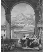 ITALY Radicofani - 1864 Fine Quality Print Engraving - $49.50