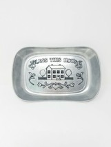 "Vintage Wilton Armetale pewter metal bread tray ""Bless This House"" - $20.79"