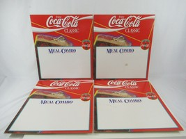 Coca Cola Classic Meal Combo Easel Back Signs Cardboard Vtg Red Blank Front - $57.87