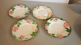 4 Franciscan Desert Rose Bread and Butter Plates - $5.52