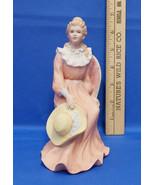 Vintage Ceramic Porcelain Homco Home Interior Woman Lady Figurine Sittin... - $13.85