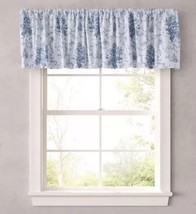 "Laura Ashley Lifestyles Sophia Window Valance Size: 86 X 15"" New Blue Ship Free - $69.99"