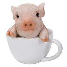 Adorable Teacup Pig Pet Pals Collectible Figurine 5.75 Inches - £13.66 GBP