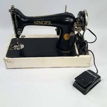 Vintage 1920 Singer Sewing Machine Model 66 Serial G8345785 Parts / Repair +Base - $112.18 CAD