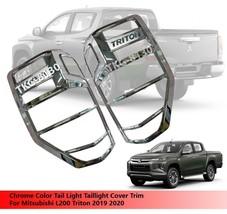 Chrome Taillight Tail Light Cover Trim For Mitsubishi L200 Triton 2019 2020 - $71.68
