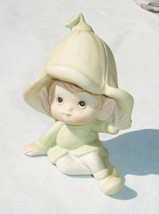Vintage Pastel Green Garden Pixie Collectible Garden Figurine by HOMCO - $6.88
