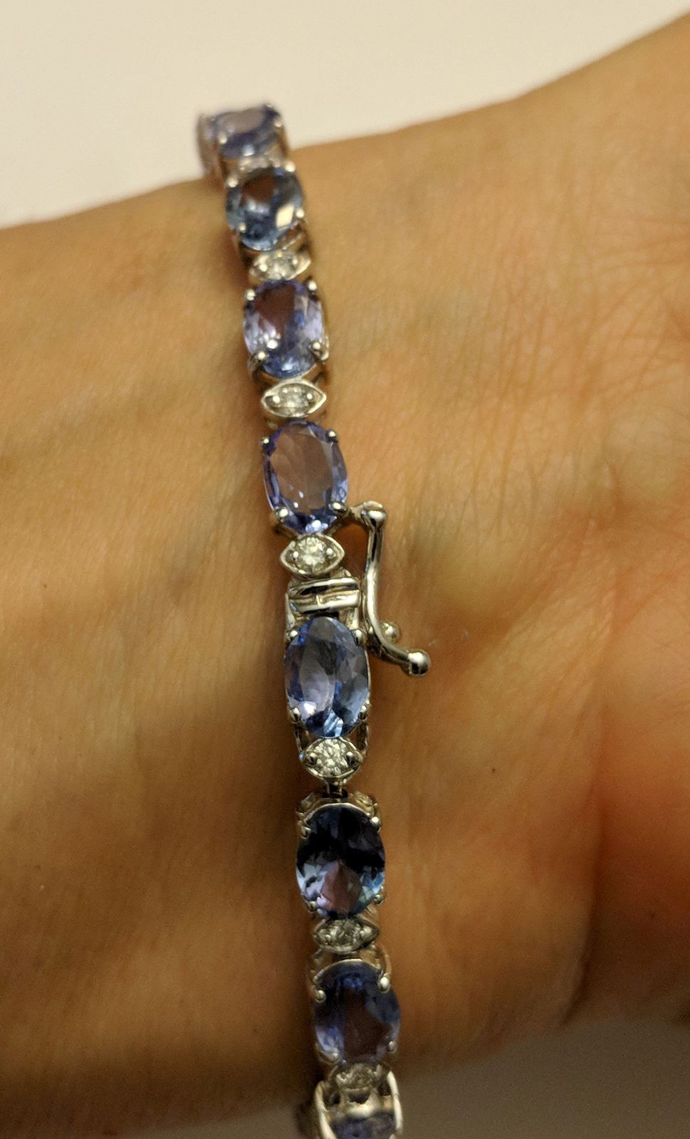 Gorgeous Deep Blue Tanzanite Bracelets in 14K Yellow or White Gold, Perfect Gift