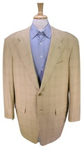 * PAL ZILERI * Light Brown Windowpane Plaid Wool-Silk-Linen Sportcoat Bl... - $49.00