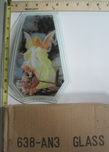 FREE US SHIP OK Touch Lamp Replacement Glass Panel Angel with Children 6... - $9.75