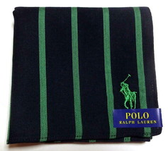 POLO Ralph Lauren Handkerchief hanky scarf bandana Green Men Striped Aut... - $23.76