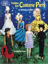 Barbie Fashion Doll Costume Party Cat Cinderella Flamenco Thread Crochet... - $13.99