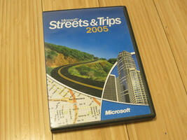 Microsoft Streets and Trips 2005 Full Version Windows - 2 CD Set & Manual - $14.01