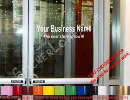 STORE NAME window Door Decal Sign CUSTOM gym bar deli salon fitness center yoga - $18.39+