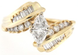 Women's 14kt Yellow Gold Solitaire ring - $1,859.00
