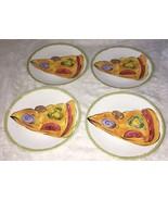Set 4 Tabletops Unlimited Snack Salad PLATES Pizza Slice kitchen prep 20... - $21.77