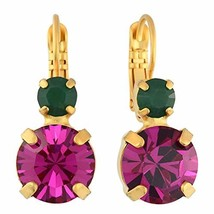 Mariana Jewelry Happy Days Earrings, Gold Plated with Crystal, Nature Co... - $52.54