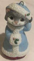 Vintage Hallmark Christmas Ornament Anthropomorphic Cat 1990 - $12.86