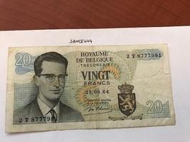 Belgium 20 francs circulated banknote 1964 - $2.75