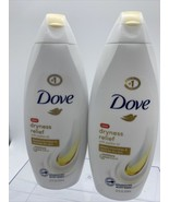 (2) Dove BODY WASH Dryness Relief w JoJoba Oil 22 oz ea Restores Dry Nour - $11.96