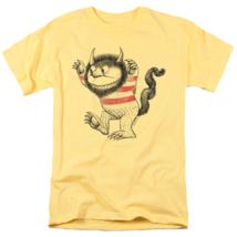 Where Wild Things Are T-shirt retro children book movie cotton yellow tee image 1