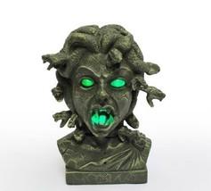 "Halloween 12"" Animated Lighted Medusa Bust - Light/Sound/Motion - €44,14 EUR"