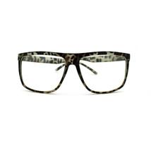 Large Oversized Plastic Frame Rectangular Geeky Nerd Fashion Clear Eye G... - $9.95