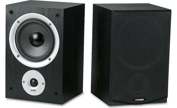 NEW Polk Audio R150 BLACK 2 Way Bookshelf Speakers PAIR