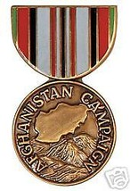 AFGHANISTAN CAMPAIGN MILITARY WAR MEDAL LAPEL HAT PIN - $13.53