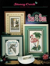 Cross Stitch Sea Sun Arizona Florida Snowbirds Beach Patrol Flamingo Pat... - $12.99