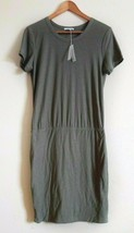 NWT James Perse Standard Green Stretch Jersey Blouson T-Shirt Dress L XL $225 - $99.99