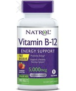 Natrol Vitamin B12 Fast Dissolve Tablets, Promotes Energy, Supports  - $26.72