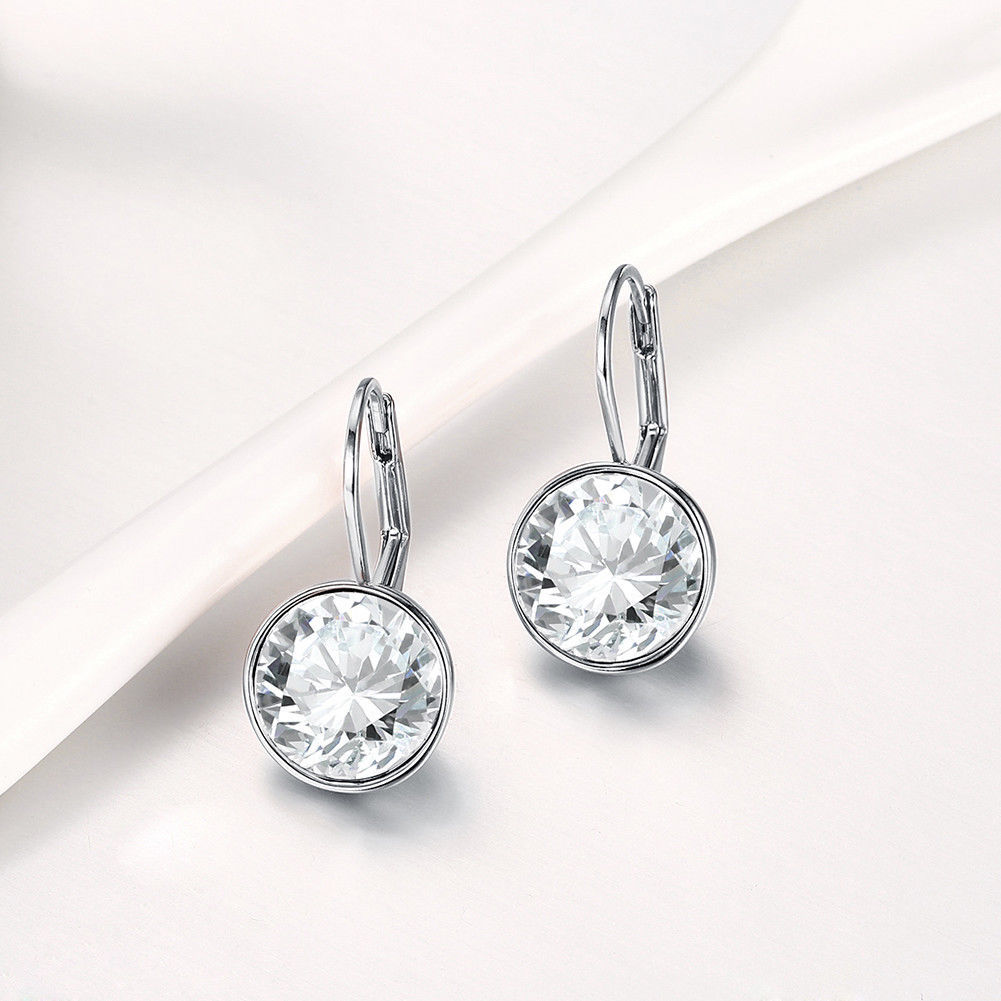 Baby Mini Bella Women Crystal Earrings Made with SWAROVSKI® Crystals image 2