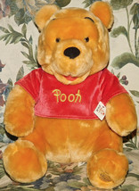 "Disney Store Exclusive Authentic Sitting Winnie Pooh Plush Toy 12"" NWT N... - $23.19"