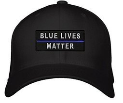Blue Lives Matter Hat - Adjustable Mens Black - Police Offer Cop Pride Cap - $15.15
