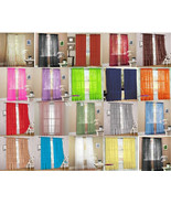 """SET OF 2 SHEER VOILE TAILORED CURTAINS 84"""" LONG RED - $11.87"""