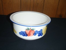 Dansk Tuscany Collection Multicolored Fruit White Serving Bowl - $28.04