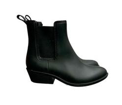 Jeffrey Campbell Rubber Chelsea Rain Boots Ankle Boots Black Waterproof Size 8 - $41.39
