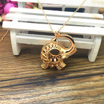 GOLDEN ELEPHANT AROMA DIFFUSER LOCKET NECKLACE >> COMBINED SHIPPING  - $8.86