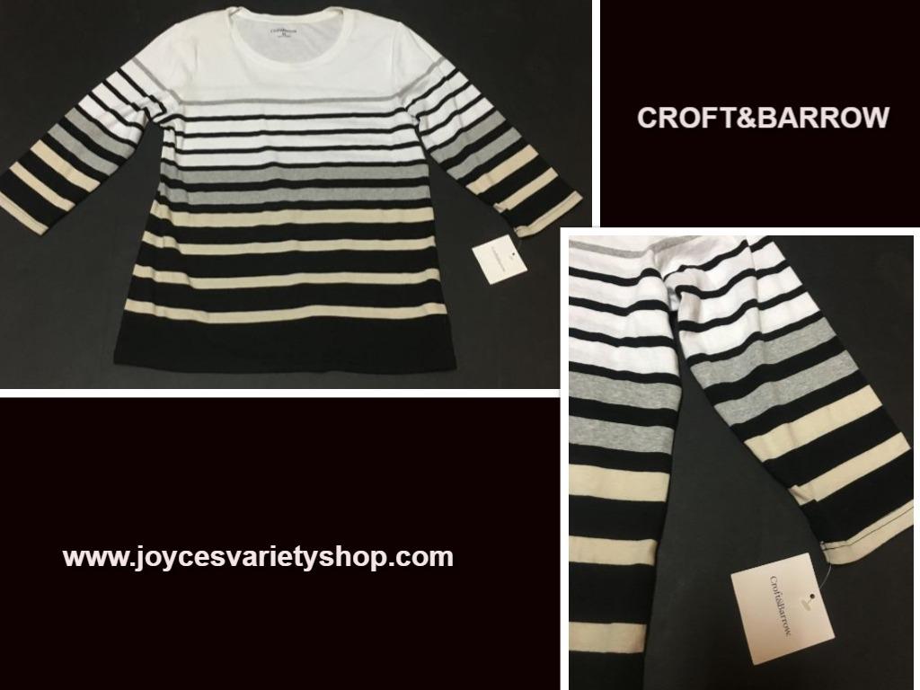 Croft   barrow striped shirt web collage