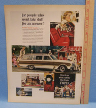 Vintage Magazine Ad for the Ford Motor Falcon Squire Wagon Live It Up With Ford - $5.93