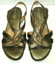 Naturalizer N5 Comfort Sandals Shoes Strappy Slingback Size 8W Bronze Le... - $21.78