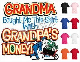 GRANDMA BOUGHT ME THIS SHIRT T-shirt Kid's Children Unisex Girl Boy Funn... - $12.99