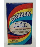 Vintage Rainbow Sundry Products Box Pure Oxalic Acid Substitute Empire W... - $15.83