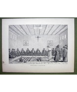 GREECE Mt Athos Council General of Epistates - 1858 Engraving Print - $9.57