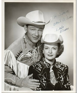 DALE EVANS SIGNED Photo of Dale & Roy Rogers. 8x10 photo. Nice autograph. - $17.81