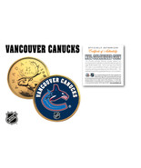 VANCOUVER CANUCKS NHL Hockey 24K Gold Plated Canadian Quarter Coin * LIC... - $7.87